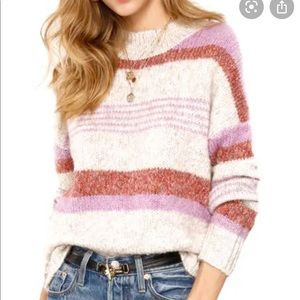 Heartloom Cecily feather striped knit sweater XS